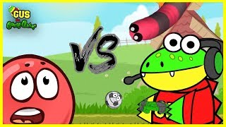 Redball 4 Vs. Slither.io Let's Play with Gus the Gummy Gator !