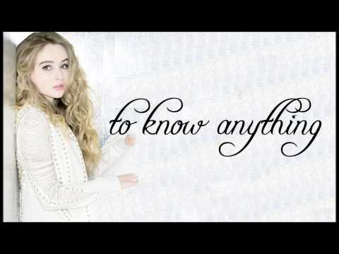 Too Young ; Sabrina Carpenter ; Lyrics