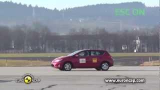 2013 Toyota Auris ESP Test Euro NCAP (VSC Test)
