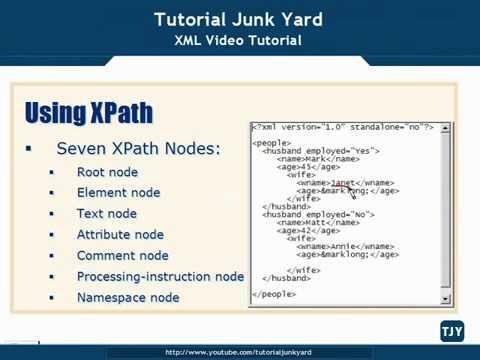 XML Tutorial   51 Using Xpath With XML