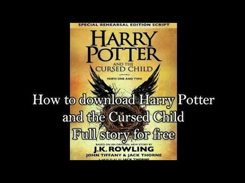 Harry potter and the cursed child pdf free...