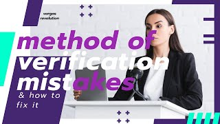 #1 Mistake with the Method of Verification Dispute Letter for Credit Repair