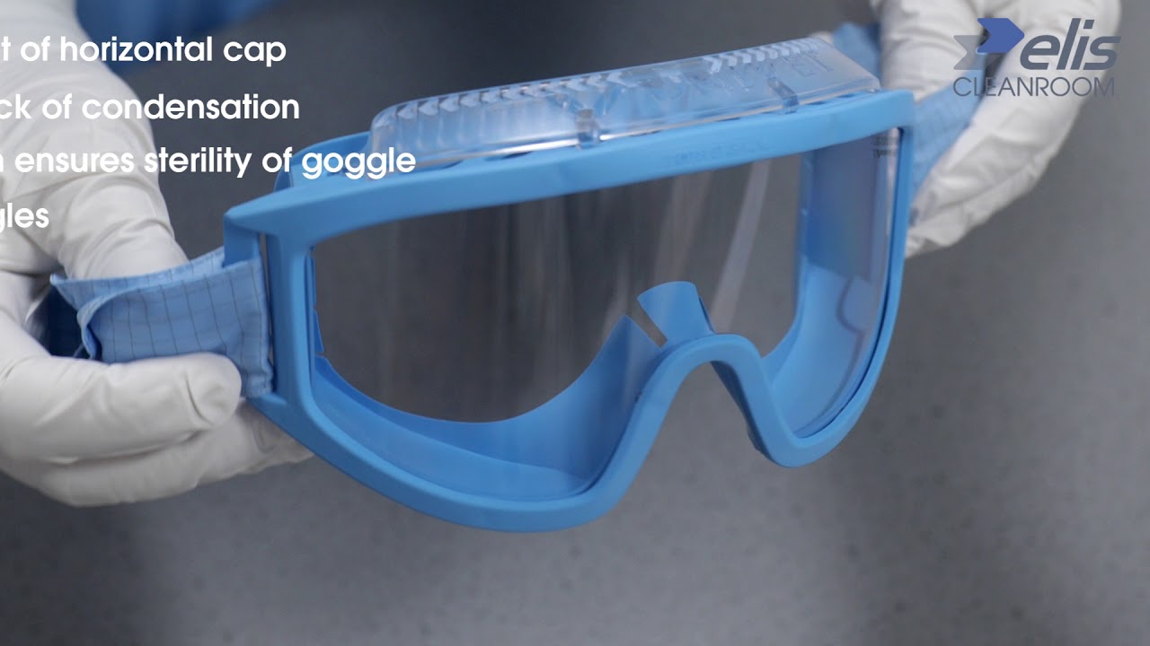 Aseptic goggle donning