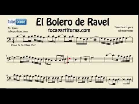 Ravels Bolero Sheet Music For Cello Trombone Bassoon Tube Euphoniumin Bass Clef