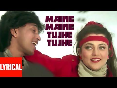 Maine Maine Tujhe Tujhe Lyrical Video | Commando | Alisha Chinai | Mithun Chakraborty,Mandakini