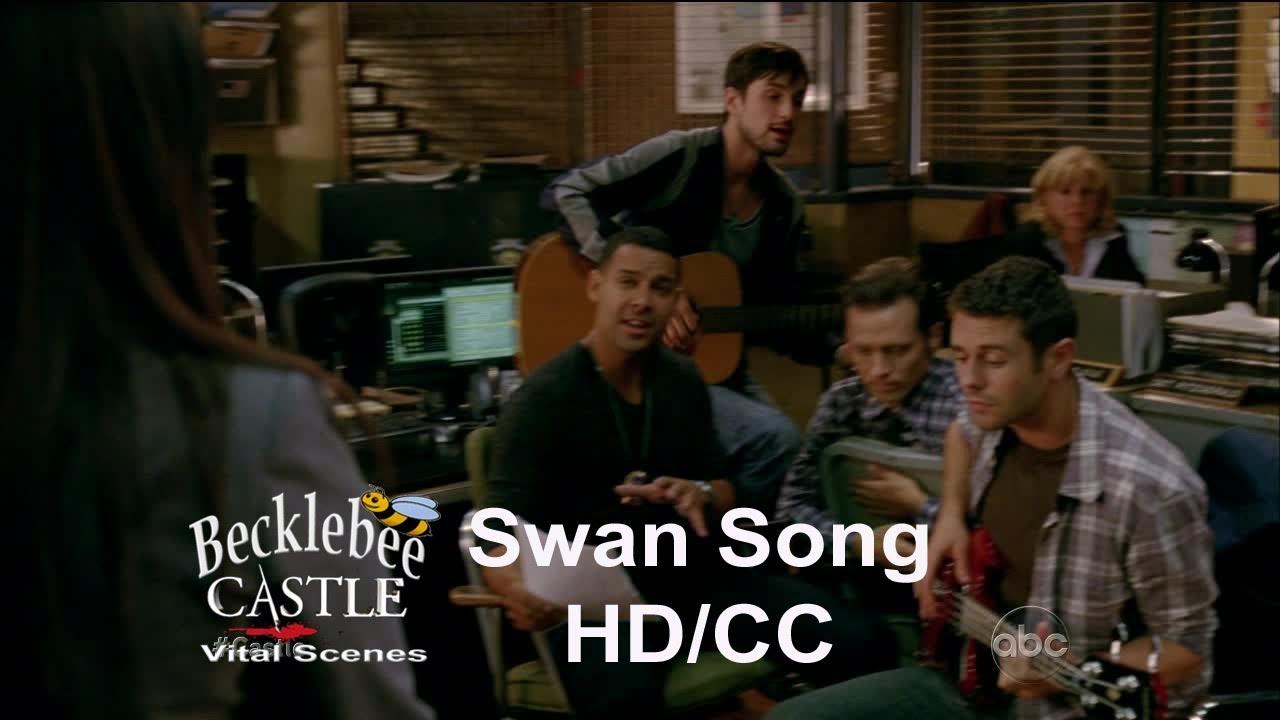 "Download Castle 5x07  ""Swan Song"" End Scene Gates & Caskett /Espo Sings/Beckett Tricks Cameraman (HD/CC)"