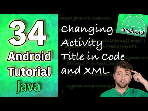 Android App Development Tutorial 34 - Changing Activity Title in Code and XML | Java thumbnail