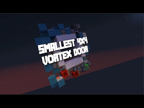 Minecraft - Smallest 4x4 Vortex Door & Minecraft - Smallest 4x4 Vortex Door - YouTube