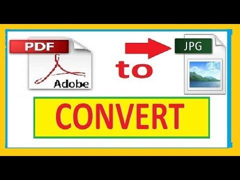 HOW TO CONVERT PDF TO JPG image ? | PDF to JPEG image convert.