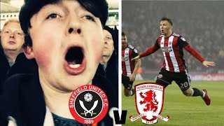 EVANS WONDER-STRIKE - SHEFFIELD UNITED V MIDDLESBROUGH MATCHDAY VLOG