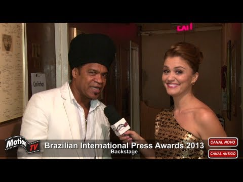 Entrevista - Carlinhos Brown é homenageado nos EUA - Brazilian Press Awards 2013 (backstage)