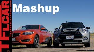 2015 BMW 228i vs MINI Cooper S Mashup Drag Race & Performance Review