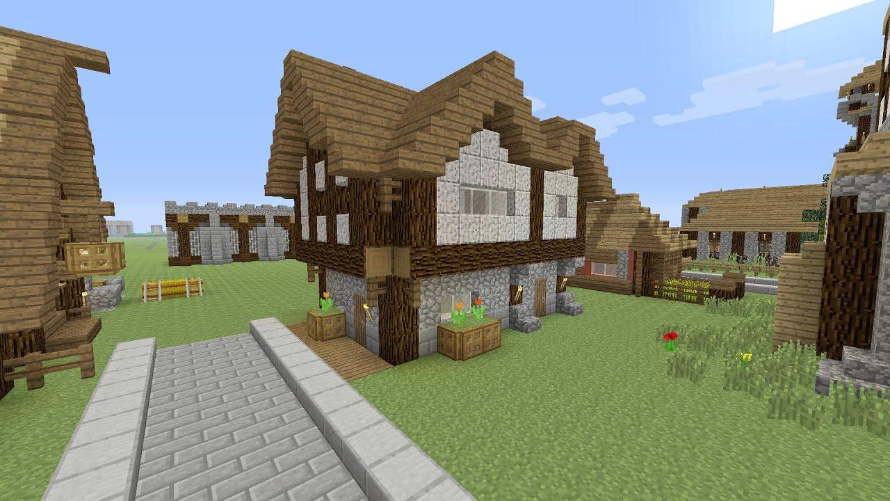 minecraft een beginners huis bouwen youtube