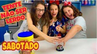 DESAFIO TENTE NÃO SER LERDO SABOTADO - SLIME CHALLENGE! FAMILY FUN 5 ft. FABIANA LANDIM