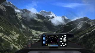 Reichenbach nach Turtmann im FSX mit Switzerland Pro X und Samoshin Trees v2