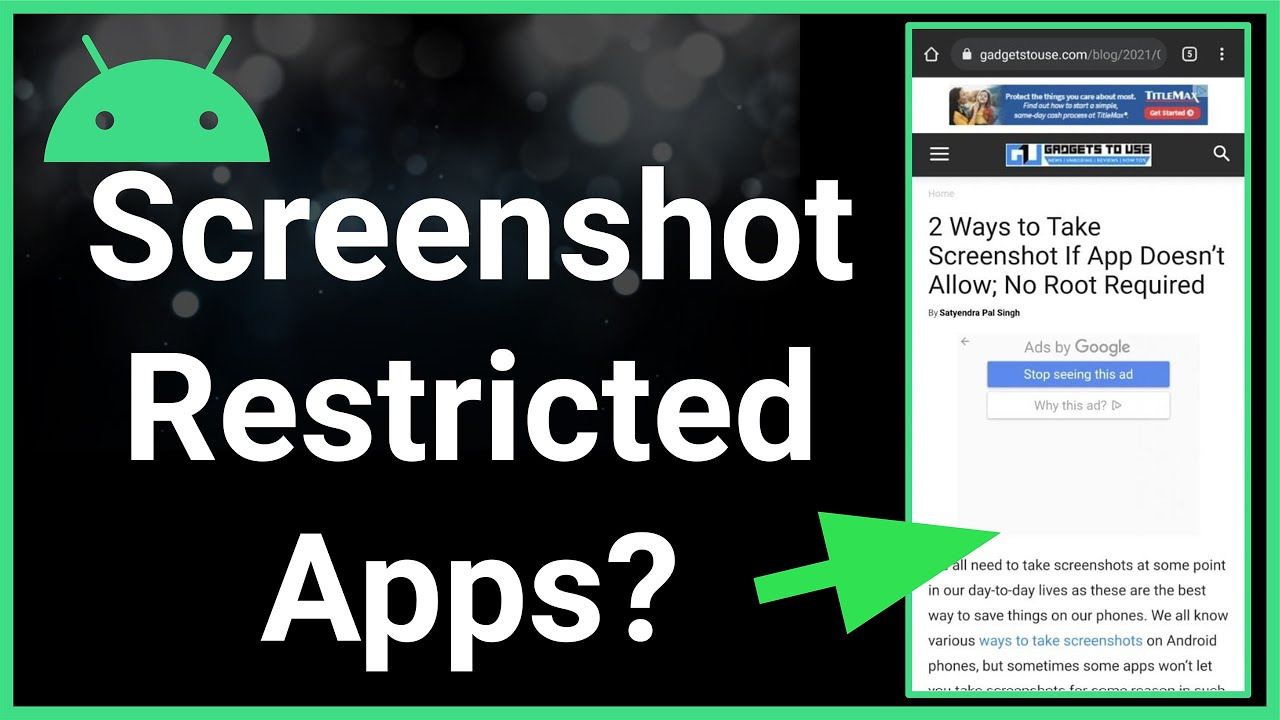Can You Take A Screenshot Of A Restricted App On Android Phone (2021)?
