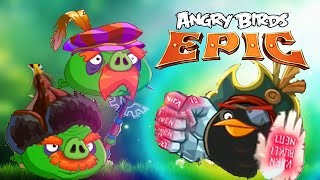 Angry Birds Epic: Cave 9, The Pig Lair 1, Thursday Dungeon: Volcano Island, GamePlay Walkthrough