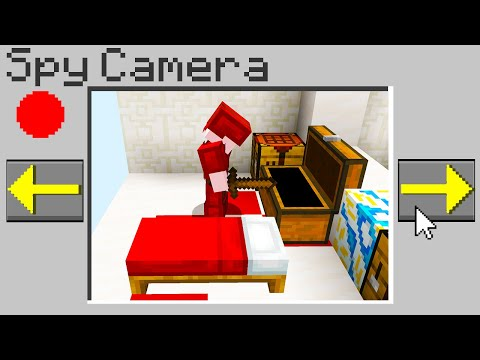 Minecraft Bedwars but you can spy on players with cameras...
