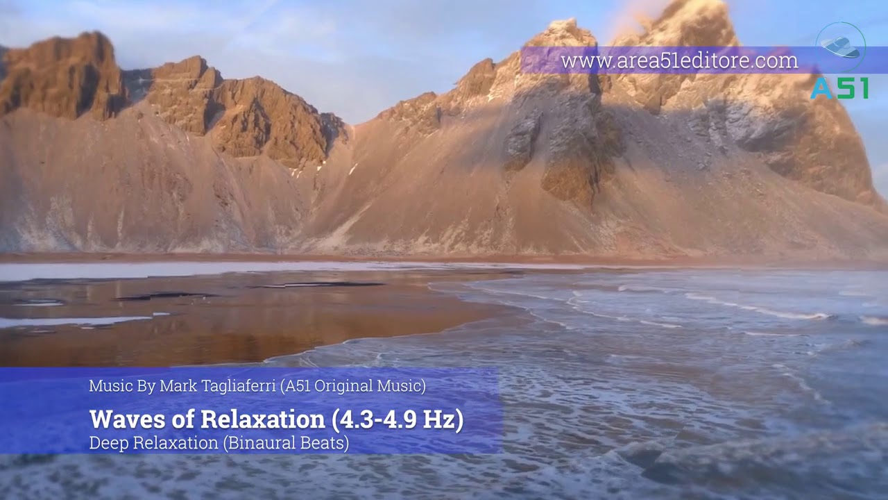 Healing Music Video 9.  Waves of Relaxations @4.3-4.9 Hz