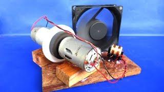 الطاقة الحرة مروحة الكهرباء 12V مولد مع موتور DC - من السهل التجارب في المنزل