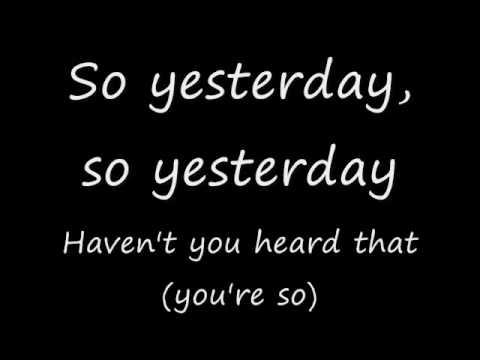So yesterday lyrics
