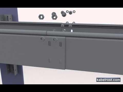 Монтаж кабельного лотка на консоль