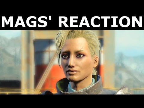 Fallout 4 Nuka World DLC - Mags' Reaction After The Ending -