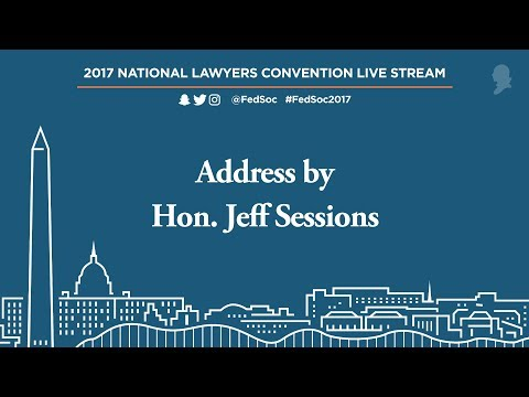 Address by Hon. Jeff Sessions [Live Stream]