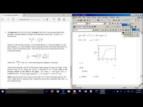 MathCAD Nonlinear Equation Solver