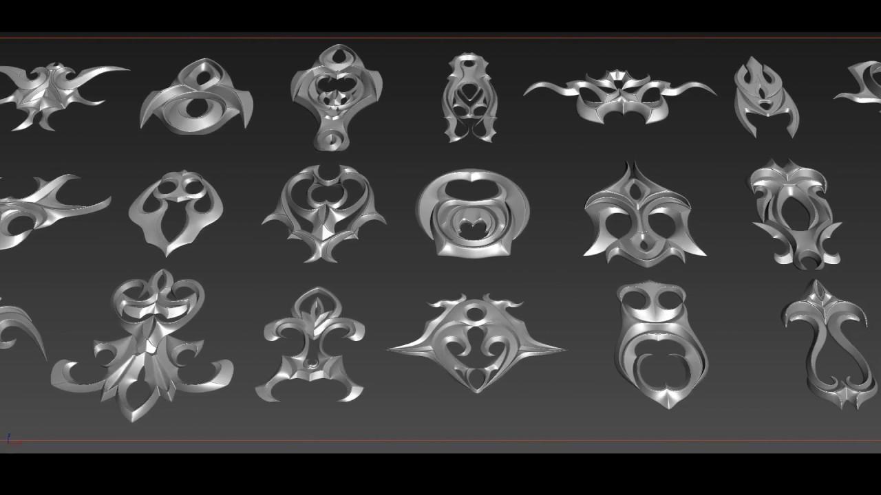 Fantasy Ornaments: Alphas & Meshes
