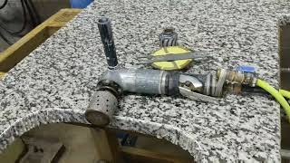 How to cut an undermount sink on granite.