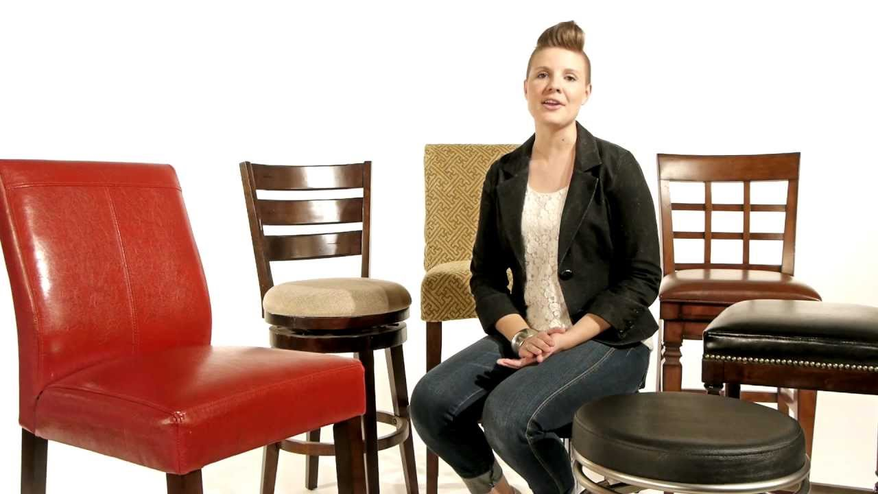 bar stool buying guide bar stools vs counter stools lamps plus youtube. Black Bedroom Furniture Sets. Home Design Ideas