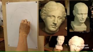 Афродита (1). Обучение рисунку. Портрет. 40 серия