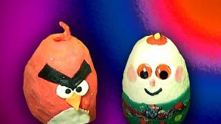 Kinder Surprise Eggs Humpty Dumpty Angry Birds Disney Spiderman Hot Wheels Cars Play Doh