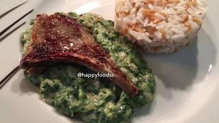 Et, Tavuk, Balik Yemeklerinin Yanina Acayip Yakisan Ispanak Püresi