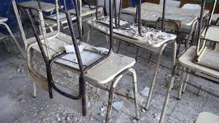 Se cayó el techo de un aula en una escuela de City Bell