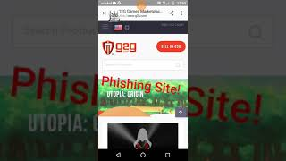 Utopia Origins: Phishing sites/Never give out your password