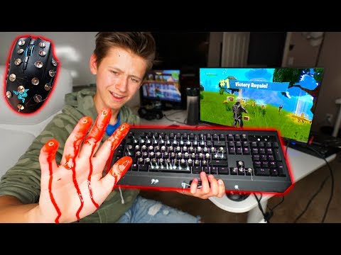 Little Brother Plays Fortnite With MOST DANGEROUS KEYBOARD AND MOUSE 😨Ends Bad...