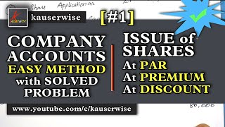 Company Accounts  Issue of Shares [#1]Introductions  Issue of Shares at Par  Premium  Discount