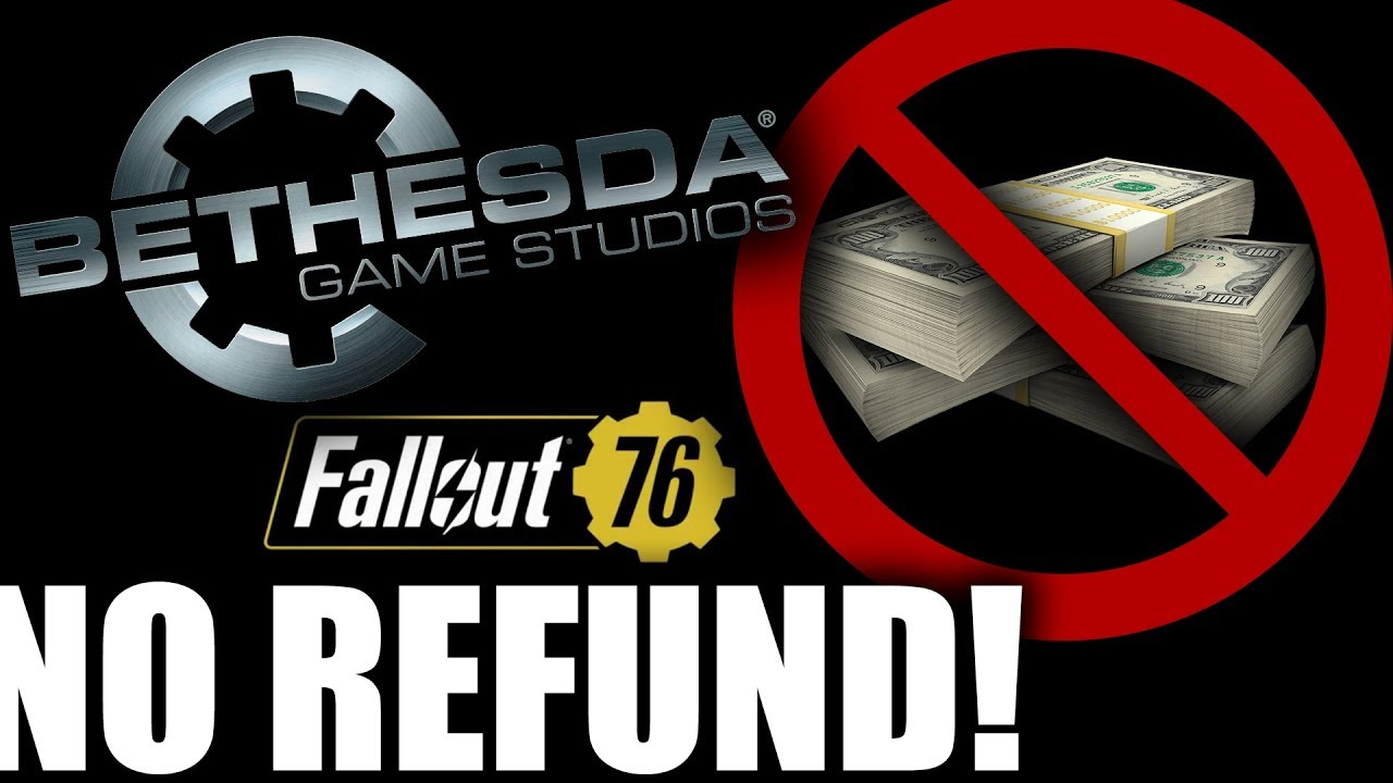 bethesda promises fallout  player  refund  breaks promise   day youtube