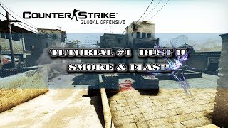 CSGO Dust 2 Smoke and Flash Tutorial