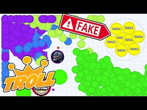 Agar.io Mobile - EVERYONE SPLITS FOR THIS!! BEST TROLL SKIN EVER