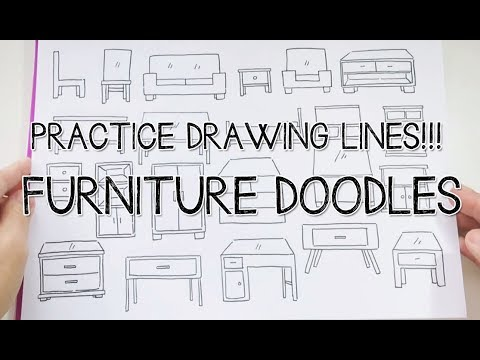 Letu0027s Practice Drawing Lines! Furniture Doodles~ | Doodle With Me