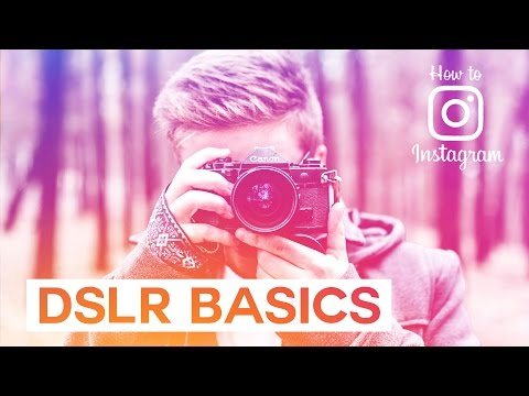 How to Use a DSLR camera: DSLR Basics -  Aperture, ISO, Shutter speed // How To Instagram