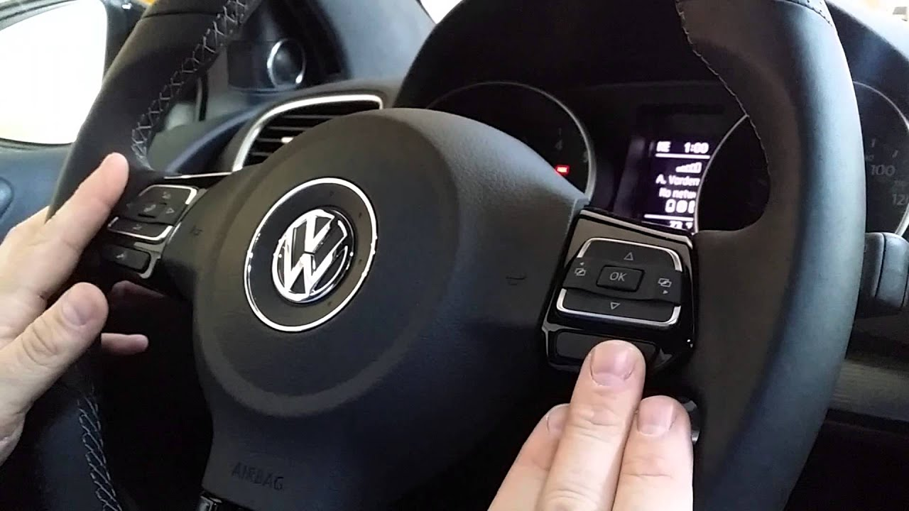 How to connect VW Golf R Bluetooth - YouTube