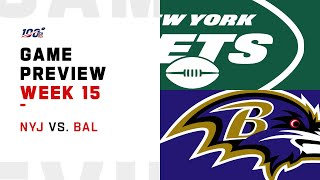 New York Jets vs Baltimore Ravens Week 15 NFL Game Preview