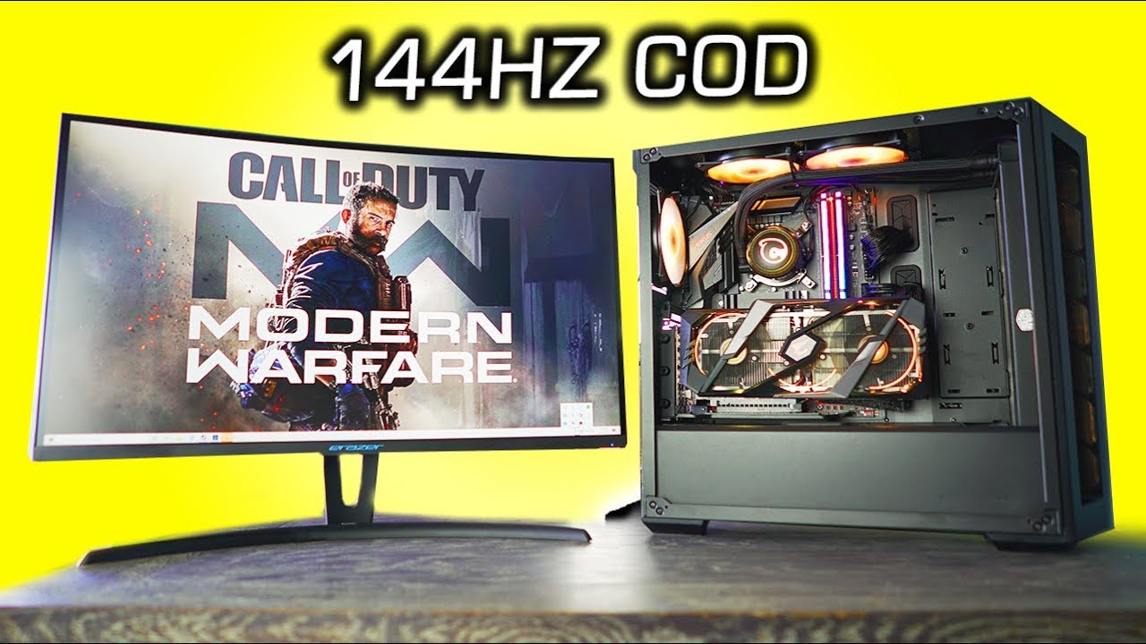 This Gaming Pc Can 144hz Cod Modern Warfare With Rtx On Youtube Best pc build for 1080p 144hz gaming