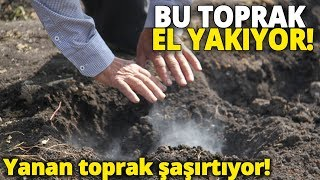 Konya'da Yanan Toprak Görenleri Şaşırtıyor