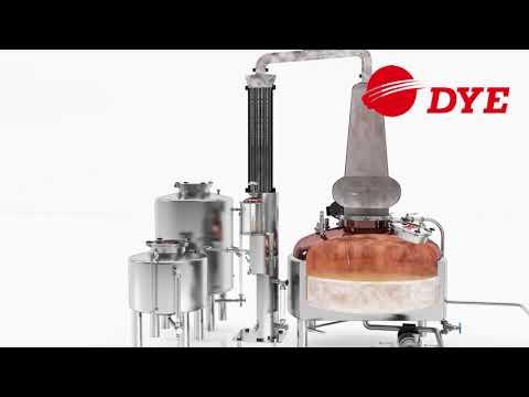 3D Distillery Equipment  Operation Process