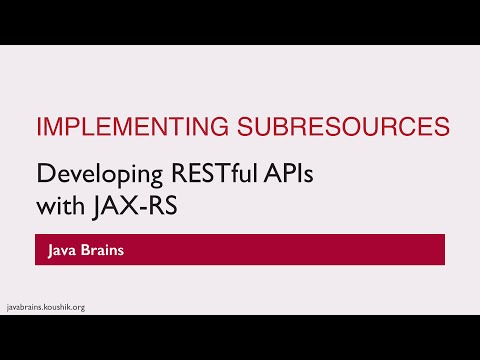 REST Web Services 25 - Implementing...